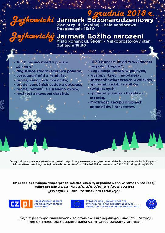 Jejkowicki Jarmark Bożonarodzeniowy 2018