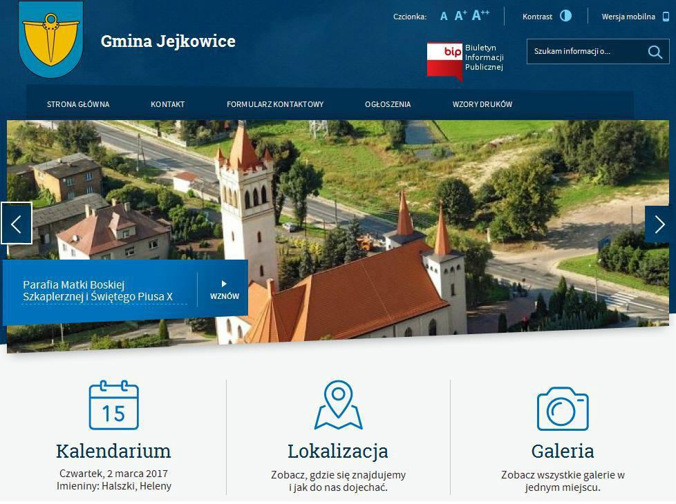 Gmina Jejkowice nowy portal